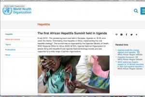第一回アフリカ肝炎サミットを封じるWHO公式サイト